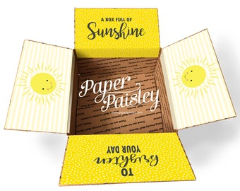Care Package Sticker Kit - Box of Sunshine/Military Care Package/Deployment /Missionary/Summer/Box Flaps/one day closer/shipping box/labels