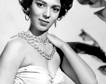 Dorothy Dandridge Hollywood Poster Art Young and Beautiful Portrait Photo Artwork 11x14 16x20 or 20x24