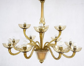 Light Glass chandelier 12 lights