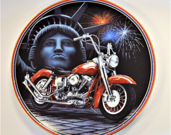 Easy Riders Plate Collection Symbol Of Freedom The Hamilton Collection LTD COA