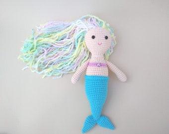 Mermaid crochet Amigurumi doll Birthday gift for little girl Mermaid toy Soft doll for girls Gift niece Sea doll Mermaid stuffed Doll plush