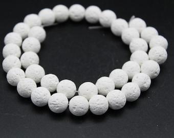 Magnesite White Lava Round Loose beads 6/8/10mm