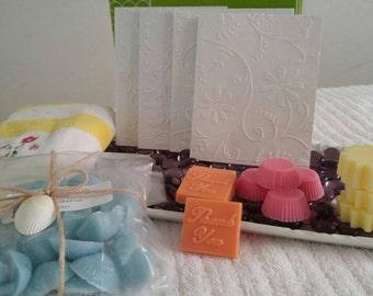 Fruit scented wax melts sampler * Bonus 3 handmade cards