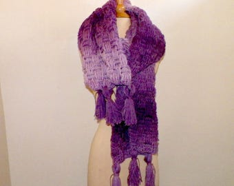 Purple Scarf Super Blanket Giant Wrap Shawl Stole Oversized Extra Long Winter Chunky Cowl Womens