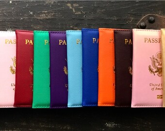 New! Passport Cover, Passport Holder, Passport Folder, Travel Passport Holder, Travel Accessories