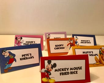Personalized Mickey Mouse clubhouse food labels