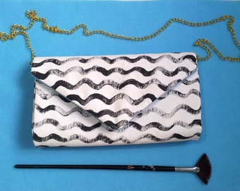 Clutch bag handbag HANDMADE hand-painted TOYZA