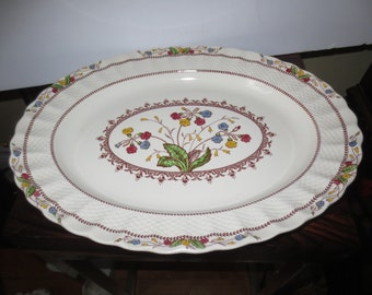 Vintage 1950's Spode Copeland Cowslip S 713 Pattern 13 inch Oval Platter