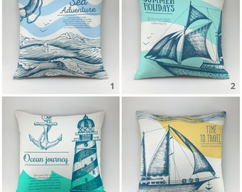 Nautical pillow cover Decorative pillow Throw pillow Cushions Beacon pillow cover Sea pillow all sizes anchor pillow marine pillow set