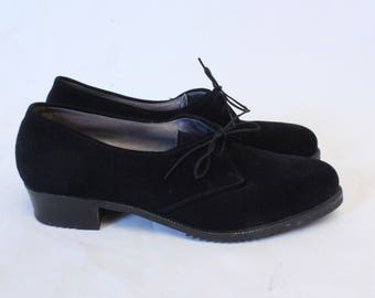 1960's Bally Black Suede Moccasin