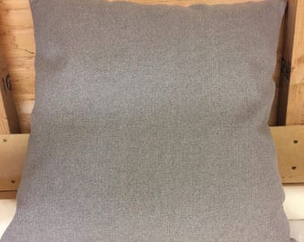 "Light brown 24"" x 24"" zipped cushion cover"