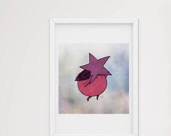 Hang on to your star - art print