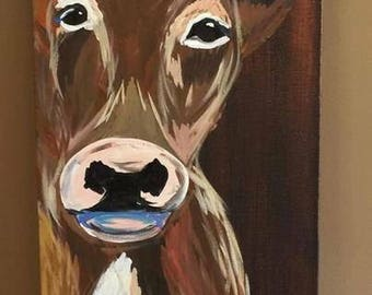 Cow Canvas Painting