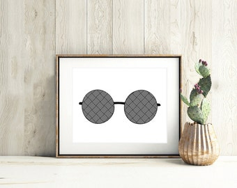 SUNGLASSES,glasses wall art,sunglasses wall art,sunglasses printable,summer wall art,black and white art,beach house decor,sunglasses poster