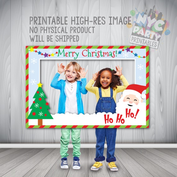 Christmas Photo Booth Frame Holiday Photo Booth Instant