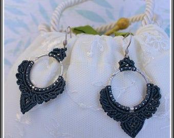Earrings Macramé Vihrea