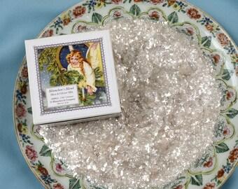 Mica Flakes Glitter 'Blümchen's Blend' - Crystalline Mica Flake & Crystal Clear Extra-Fine German Glass Glitter Mix, 2 oz. net wt.