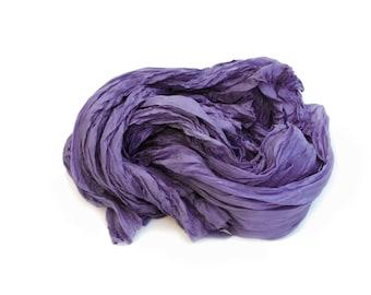purple silk scarf - Fall Mantra -  blue purple silk scarf.