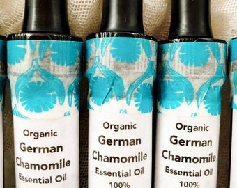 100% Pure Organic German Chamomile essential oil (Matricaria recutita) - free shipping!