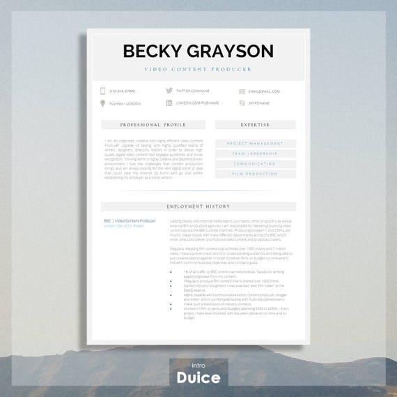 Modern resume template modern cv template printable cv for yelopaper Choice Image