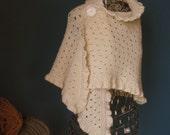 Ivory Wool Wedding Shawl ...