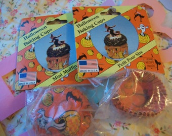 halloween paper baking and party cups