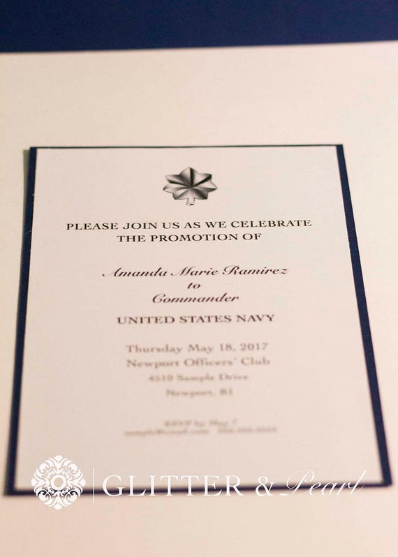 Military Promotion Invitations Custom military invitation