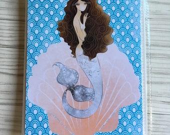 Mermaid in Shell planner sticker book, sticker storage  ,sticker album, sticker organizer, Planner accessory