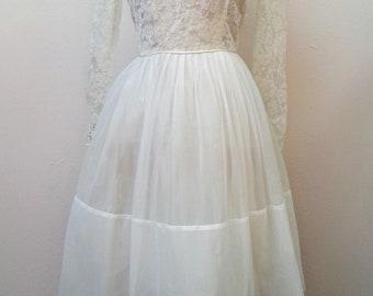 50's tealength sweetheart neckline vintage bridal dress SALE