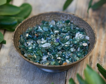 Green Agate Chip Stones