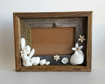 Seashell Flower Picture Frame