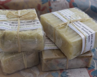 A Variety of Four Large Handmade Soaps