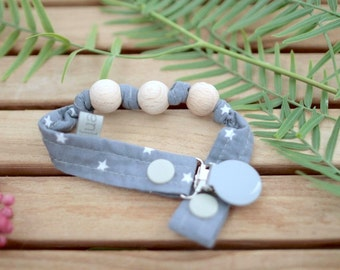 Chupetero-Wooden Baby Teether | Blue Night