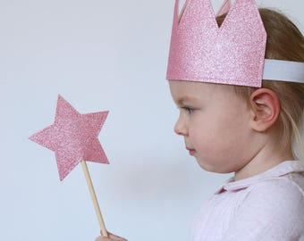 Star Wand, Pink Wand, Dress Up, Imaginative Play, Kid's Party, Glitter