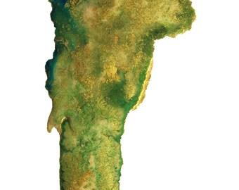 Vermont Topography Print