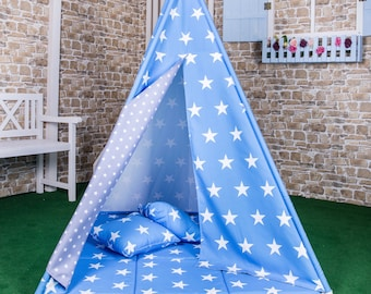 Play tent Goggly asterisk Blau complete set