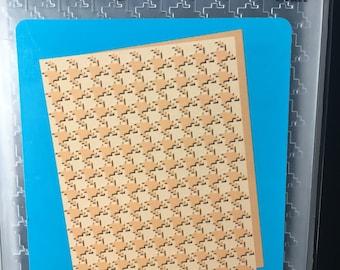 Houndstooth Cuttlebug  Embossing Folder