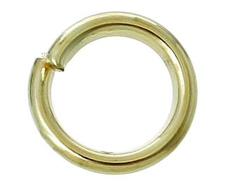30 rings 4 mm round Golden.