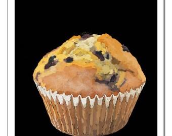 Blueberry Muffin-Pop Art Print
