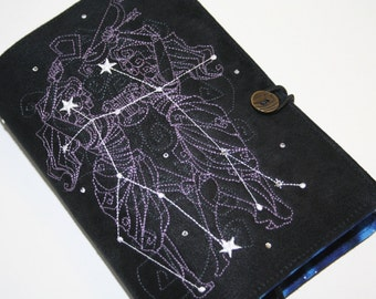 Gemini  Embroidered Book Cover