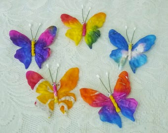 Butterfly paper 20 pcs. Colorful mixed color mulberry paper Handmade craft