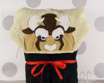 Kid's Hooded Towel - Beast Hooded Towel for Bath, Beach, or Swimming Pool