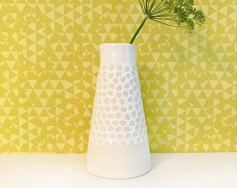 White Dotted Vase