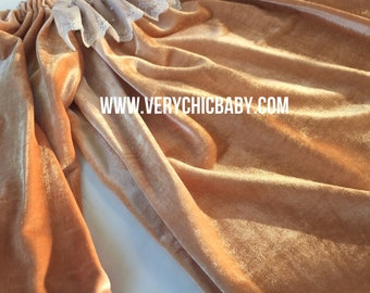 Caramel Velour and Lace Dress Peasant Tunic Dress Girls Top Boutique