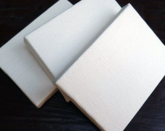 Mini painting Canvas for painting 75% off  small painting canvas white artist  Mini  2 inches x 2 3/4 inchees Altered art
