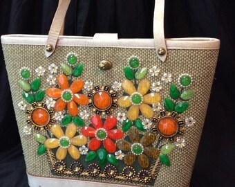 Enid Collins Flower Basket Purse