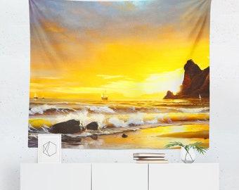 Nautical Tapestry | Nautical Wall Tapestry | Beach Tapestry | Beach Wall Tapestry | Nautical Wall Decor | Nautical Wall Hanging | Beach