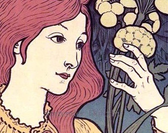 Eugene Grasset Salon Des Cent Paris Art Show 1897 French Belle Epoque Lithograph To Frame