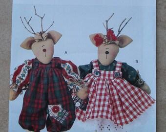 Vintage Butterick Pattern 4121 - Mr. and Mrs. Reindeer