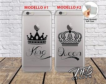 Case cover Case Soft couple Best friends Queen King